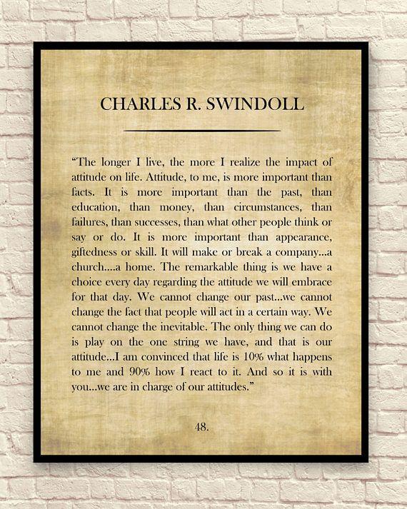 Charles Swindoll Quote Custom Art Print Book Page Art Print