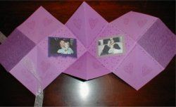 Craft Projects - Folding Book/Accordian Album at Exploring Womanhood's Heart of the Home Channel