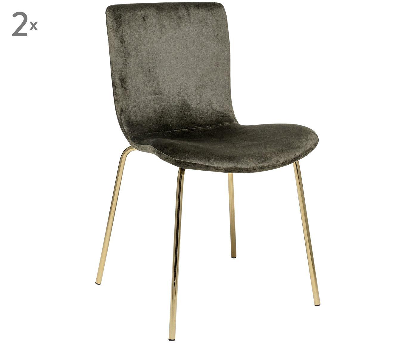 Polsterstuhl Samt Olivengrun Stuhl Samt Esszimmer Kuche Design Designstuhl Gold Green Interior Interieur Polsterstuhl Polster Stuhle