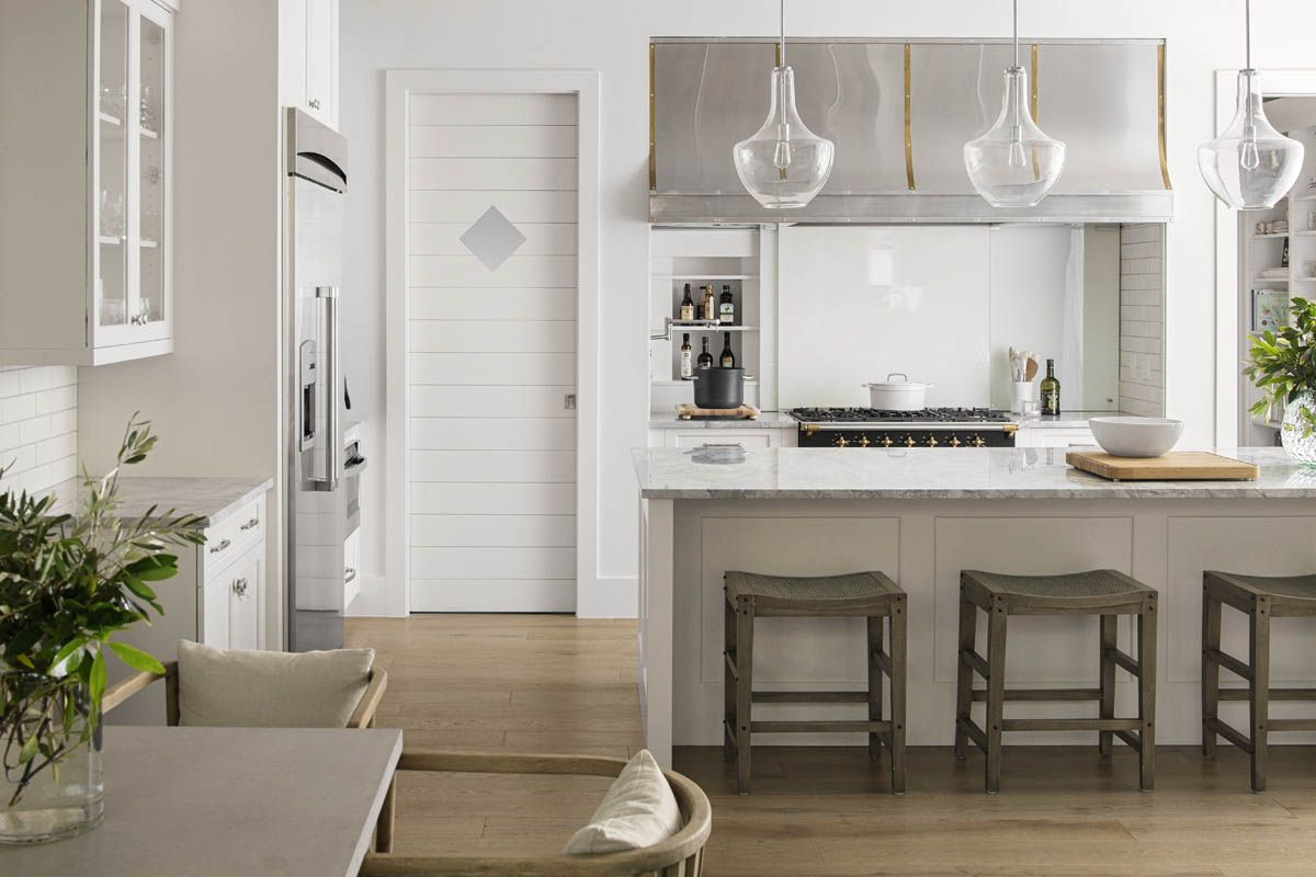 A Modern Rustic Home in Florida | Rue Shiplap door with diamond ...