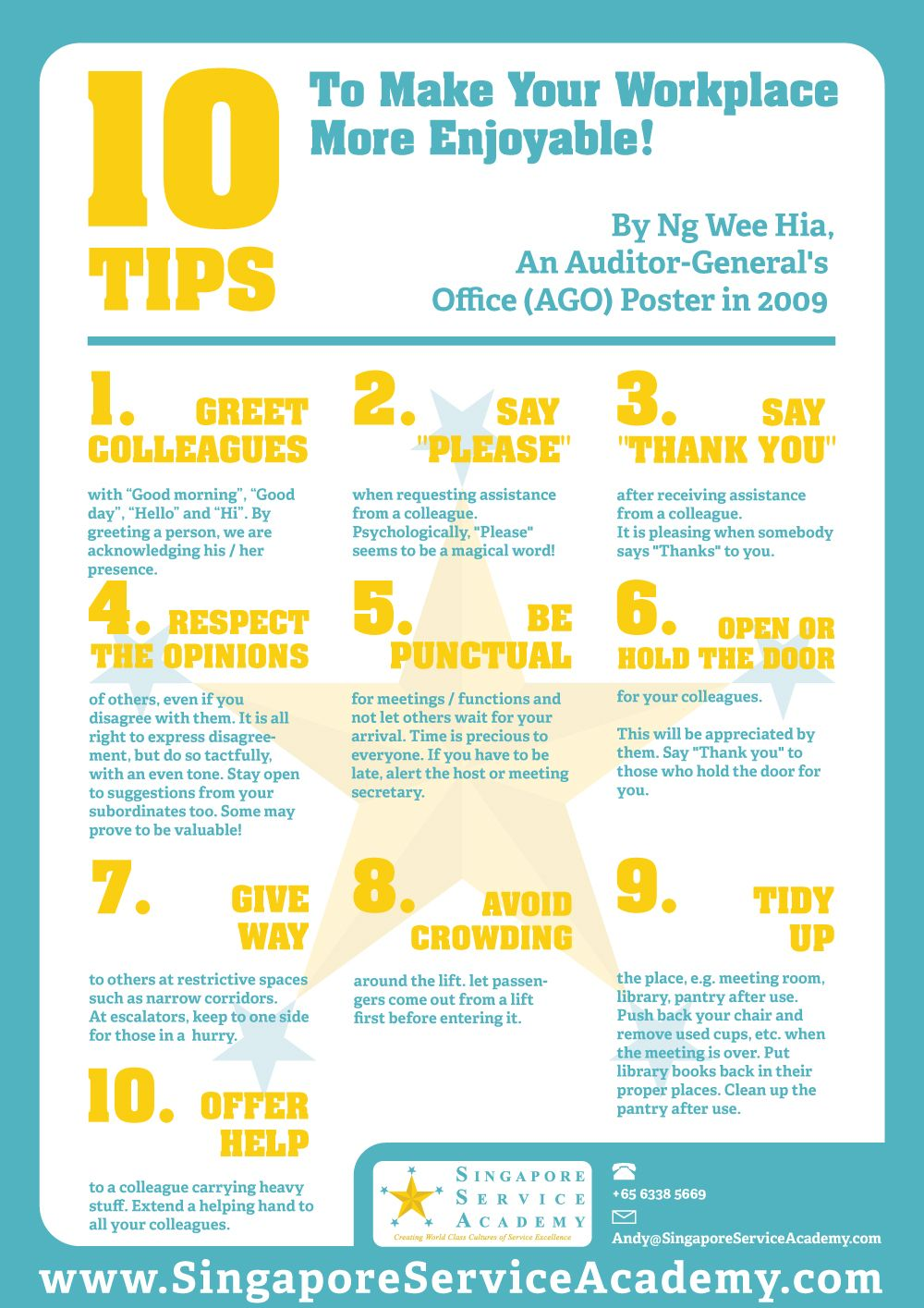 tips to make your workplace more enjoyable being of service 10 tips to make your workplace more enjoyable being of service to internal customers first