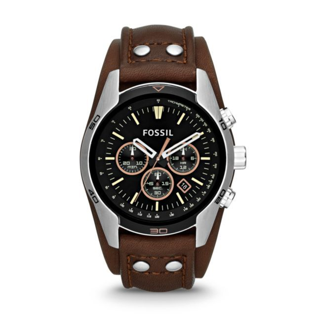 FOSSIL Men s - Coachman Chronograph Leather Watch Getting this for ... f4a21f20b1b6
