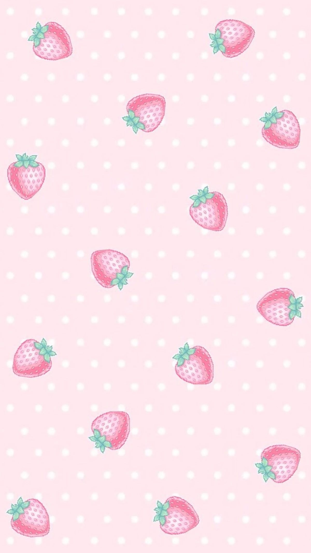 Strawberry Cute pastel wallpaper, Sassy wallpaper