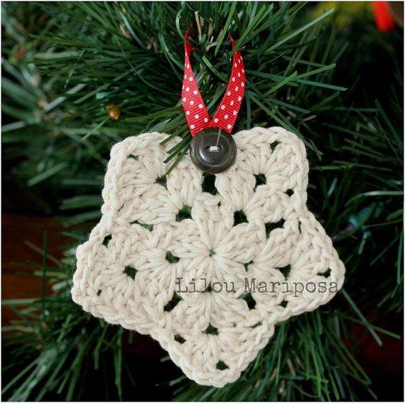 Crochet Christmas Star Ornament Pattern Crochet Ornament Pattern