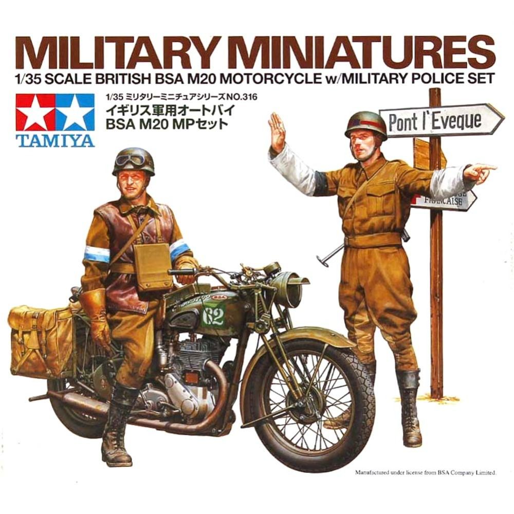 Ohs Tamiya 35316 1 35 British Bsa M20 Motorcycle W Military Police Set Assembly Military Miniatures Model Buildi Military Police Military Military Illustration
