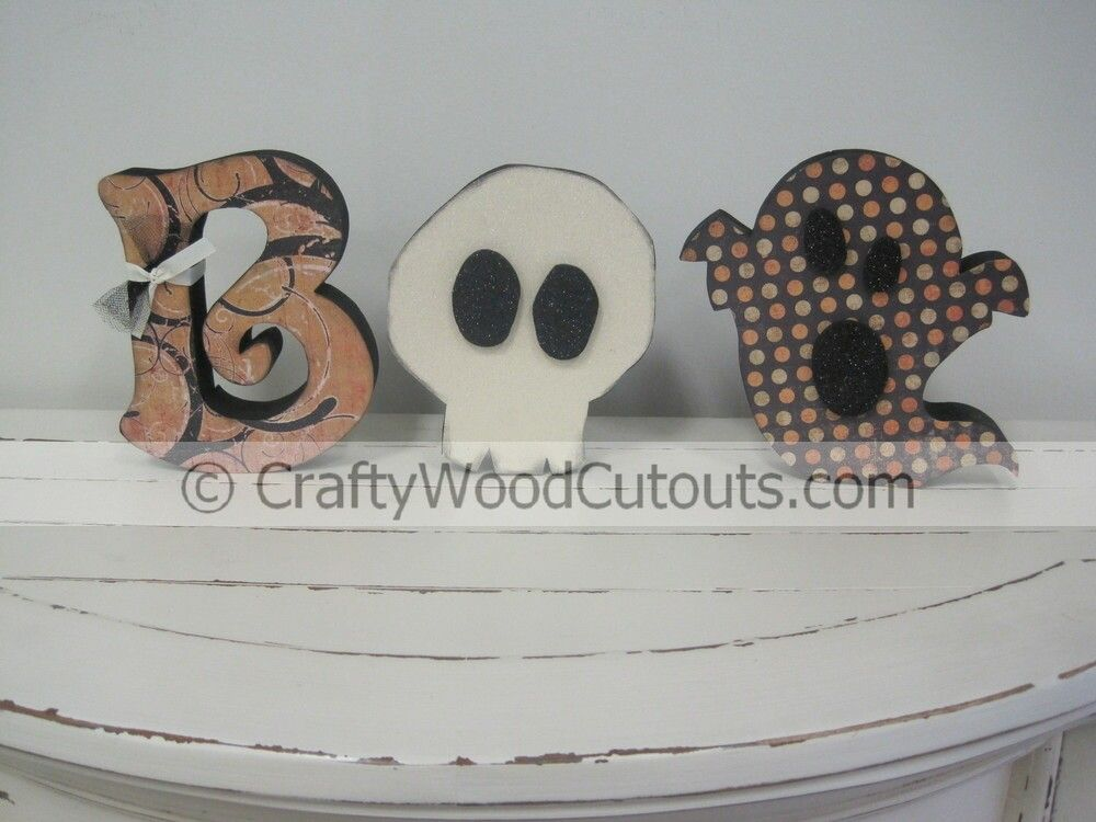 Halloween diy wood craft design and decor halloween wood crafts boo halloween wood craft design from crafty wood cutouts sciox Images
