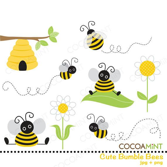 Lindo Bumble Bee Clip Art