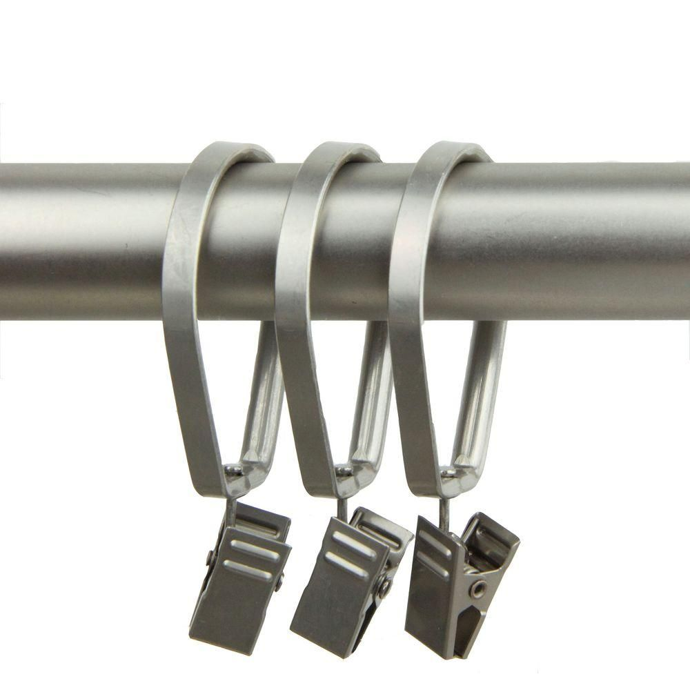 Rod Desyne 1 3 8 In Decorative Deluxe Pivot Rings With Clips Set