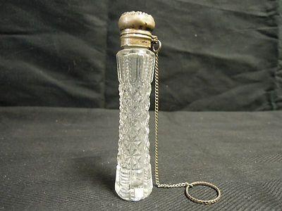 Rare Antique Crystal Glass Perfume Bottle