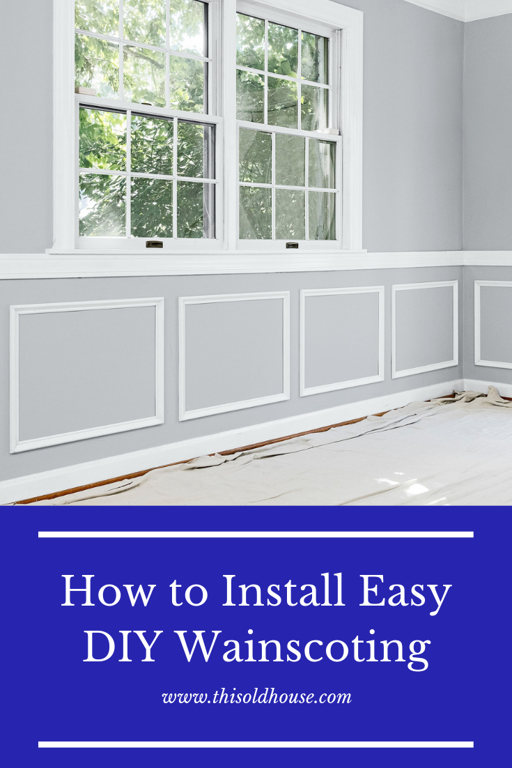 How To Install Easy Diy Wainscoting Diy Wainscoting Wainscoting Installing Wainscoting