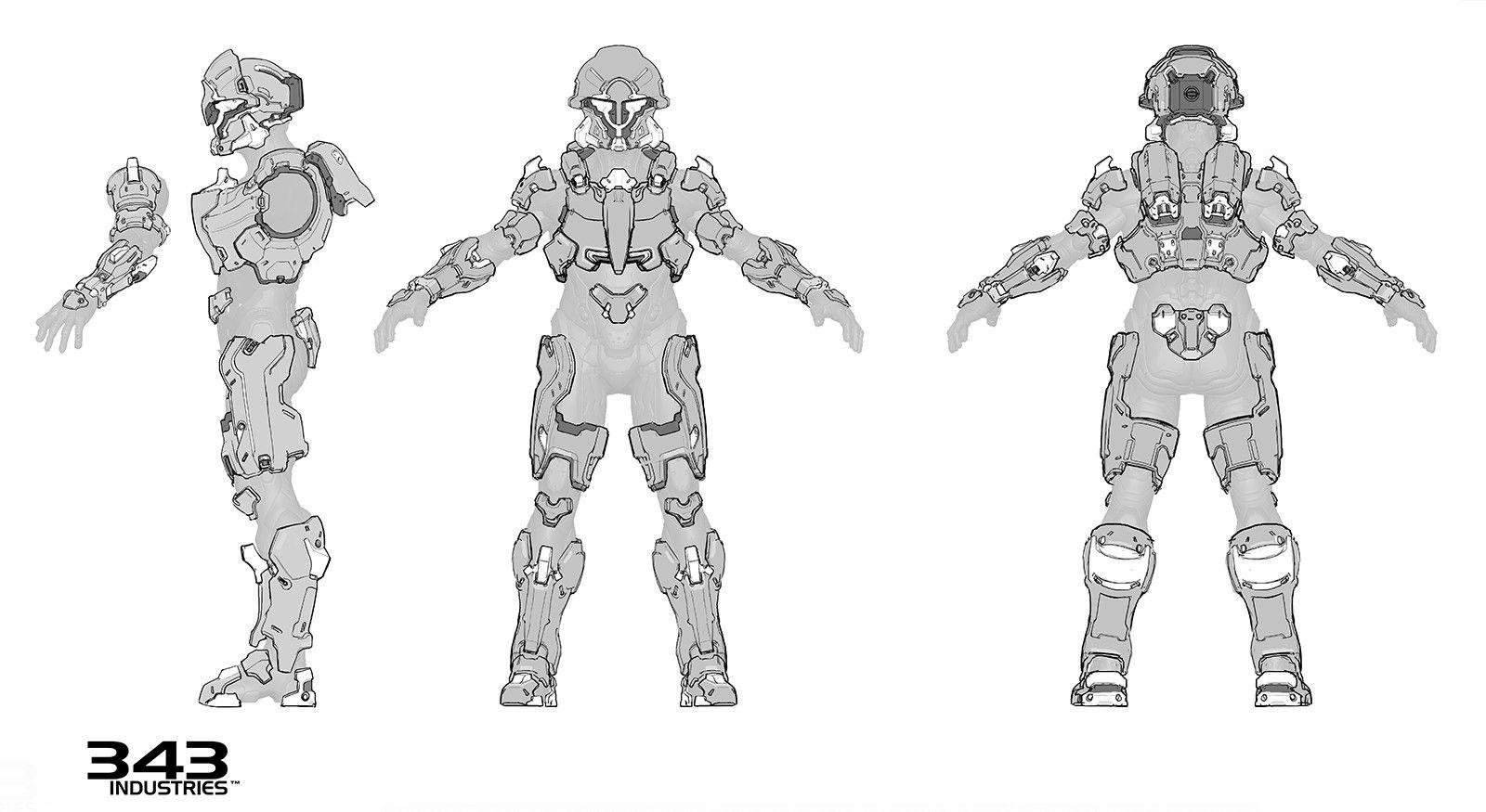 artstation halo 5 guardians noble armor pablo vicentin trajes