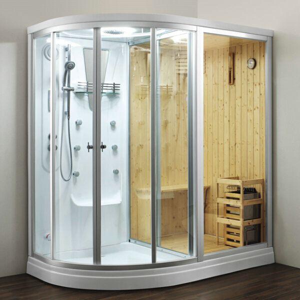 Cheap glass acrylic wood sauna steam shower cabin for wholesale ...
