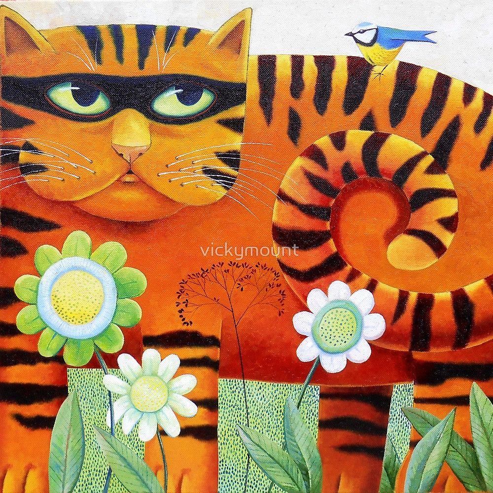 Bandit By Vickymount Cat Art Cat Art Illustration Cat Painting
