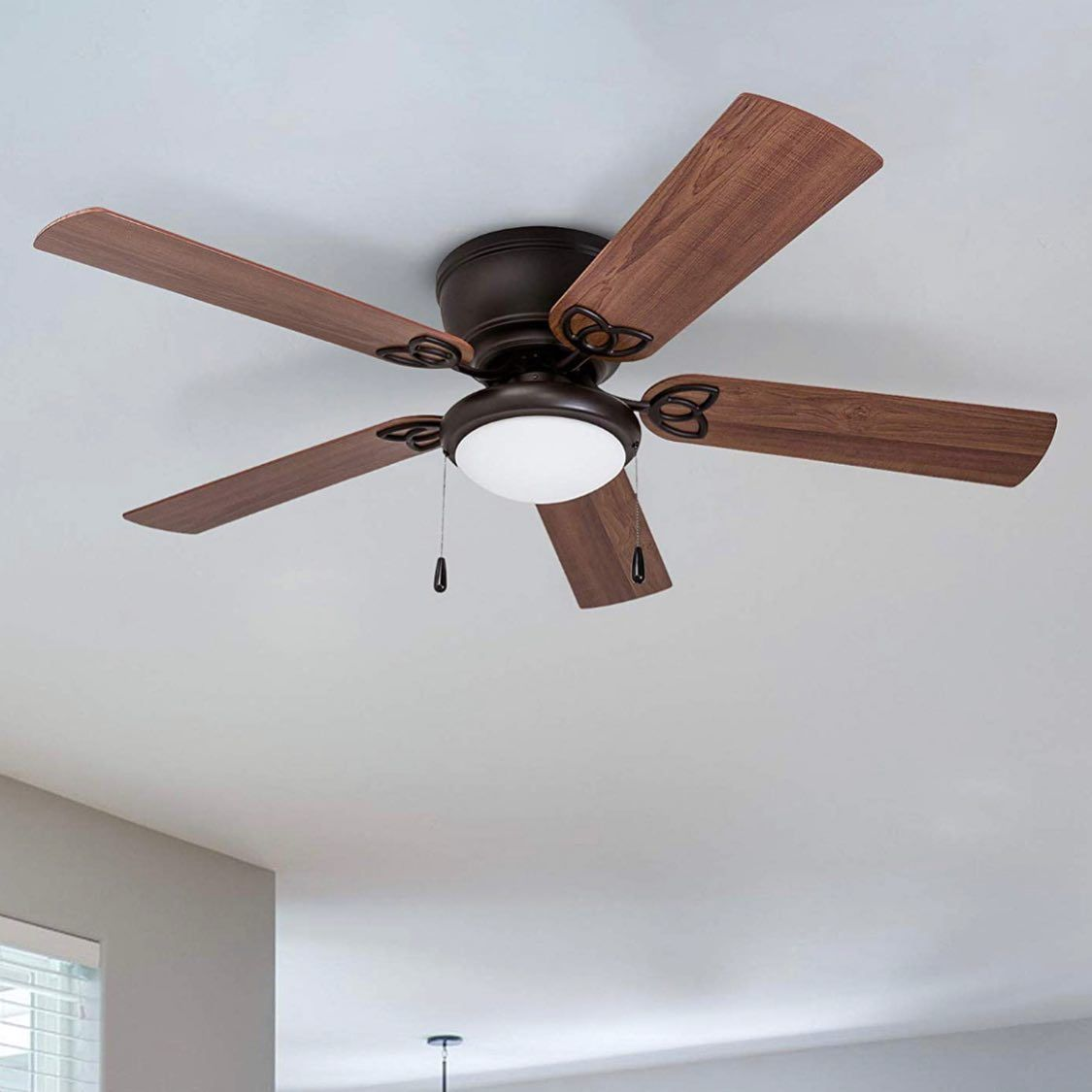 Low Ceilings No Problem Check Out The Low Profile Design Of The Prominence Home Benton Ceilingfans Lowp Led Ceiling Fan Ceiling Fan Hugger Ceiling Fan Best ceiling fans for low ceilings