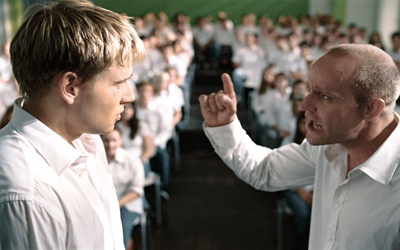 #LaOla #película #Reseña #DennisGansel #Aurum #DieWelle #JürgenVogel #FrederickLau