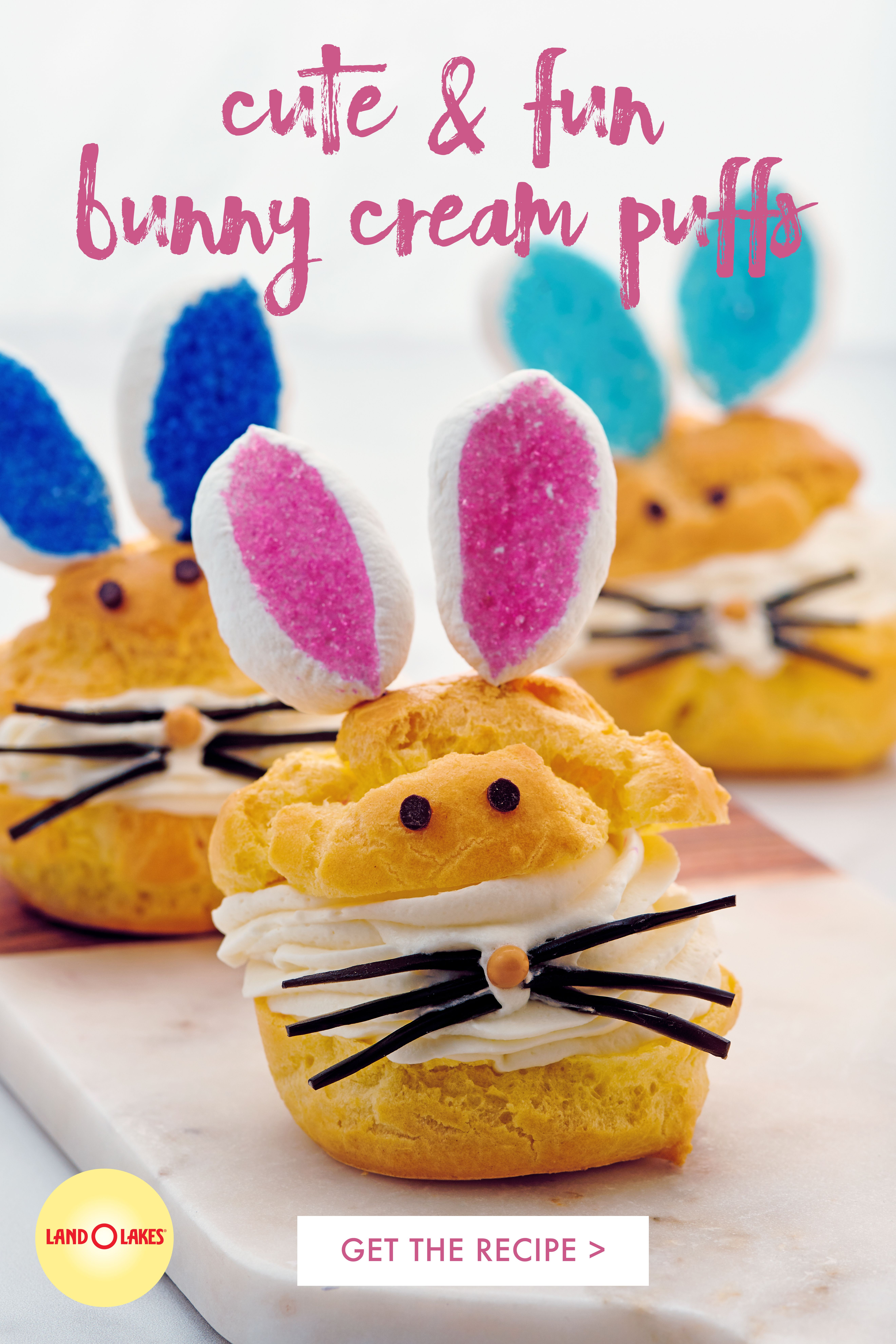Bunny Cream Puffs Recipe In 2020 Easter Party Food Cream Puffs Holiday Desserts