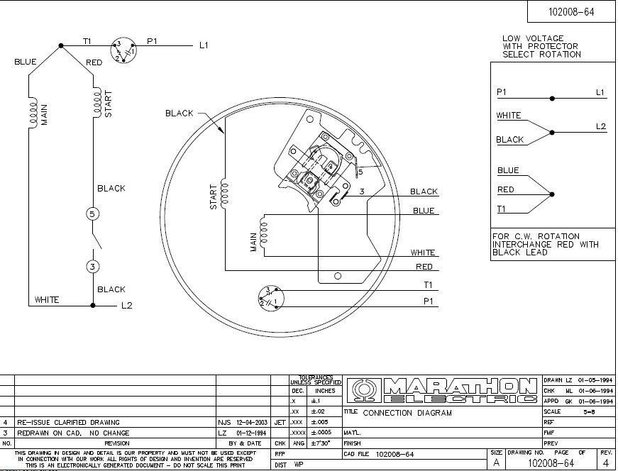 Marathon Electric Motor Wiring Diagram
