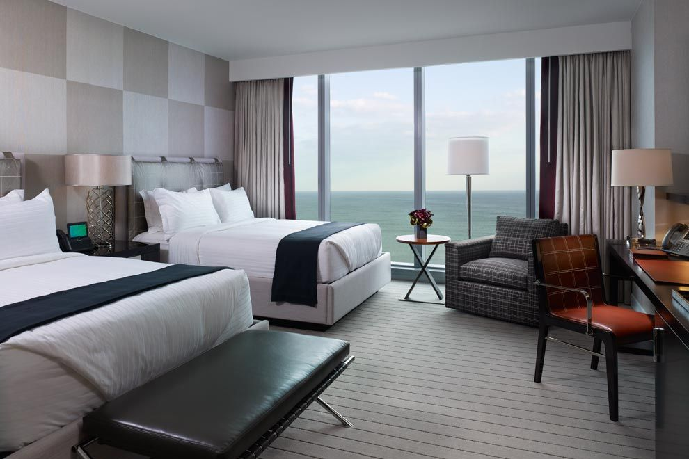 Revel Ocean Room Modern Clean Design And Neutral Tones Slow The Pace When You Re Ready To Unwind Interior Doors Of Fros Grey Bedroom Decor Room Modern Room