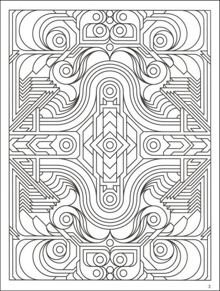 Download And Print This Free Printable Art Deco Patterns Coloring Pages For Adults 76429 For Th Geometric Coloring Pages Pattern Coloring Pages Coloring Books