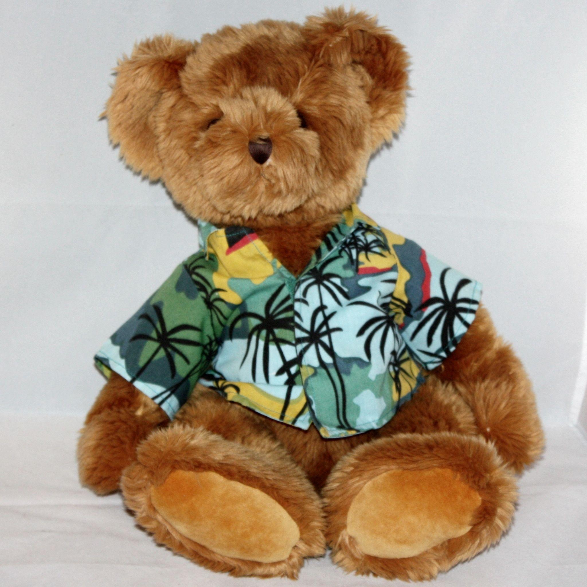 Russ For Ritz Camera Hawaiian Shirt Teddy Bear Teddy Bear Teddy Brown Teddy Bear [ 2048 x 2048 Pixel ]