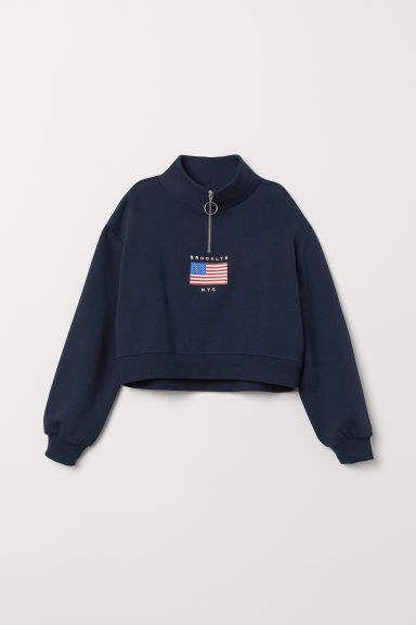 babeba5b5 Stand-up Collar Sweatshirt in 2019 | Products | Collared sweatshirt ...