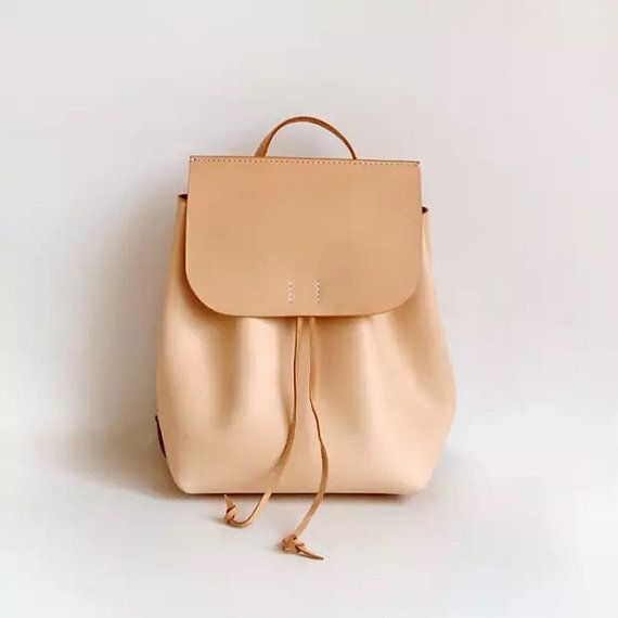 61d4a64bf4 Nude leather backpack