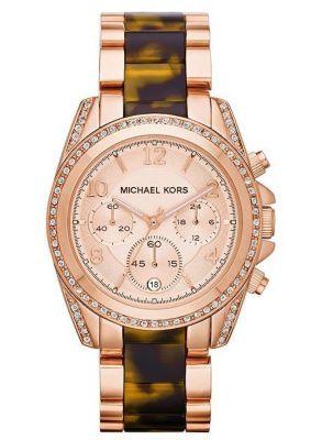 Michael Kors Rose Golden Stainless Steel Chronograph Watch MK5859 @ Kranich's Jewelers.