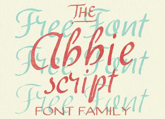 Font of the Day: Abbie Script, by Tom Chalky | #fotd #fontoftheday #font #fonts #typeface #typefaces #typography #free #freebie #download #downloads
