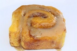 pumpkin cinnamon rolls with caramel glaze