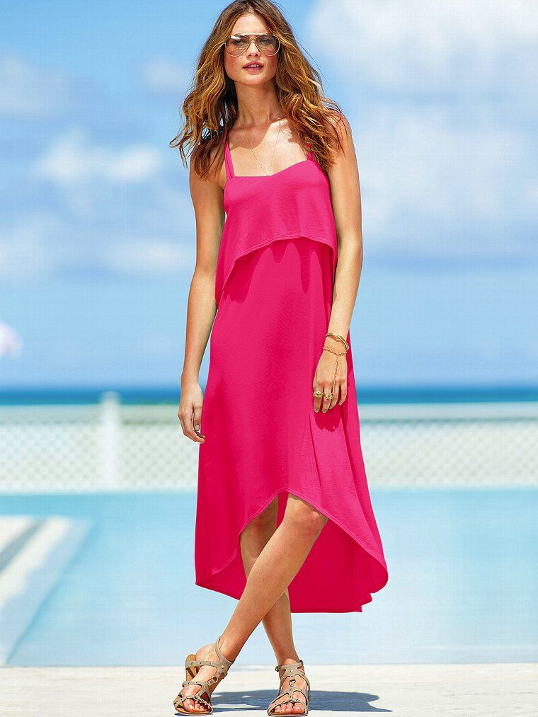 5cdba916f4 Love the color - 15 Beautiful Summer Dresses From Victoria s Secret ...