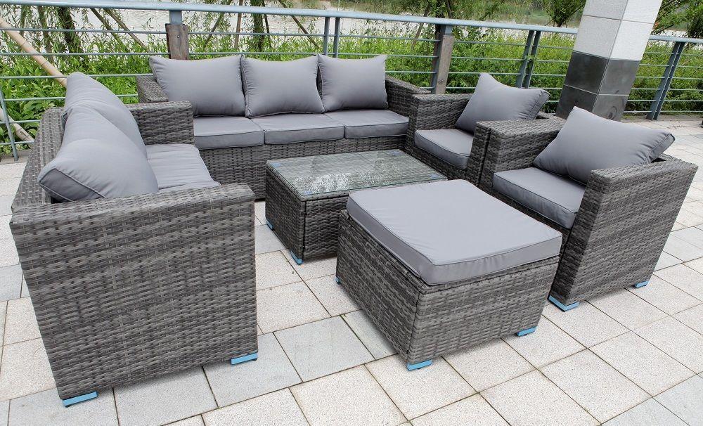 New Rattan Garden Furniture Set Sofa Table Chairs Garden Patio
