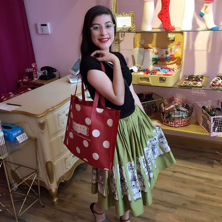 """This darling dropping by to shop our secret summer sale section! ❤️❤️❤️"""
