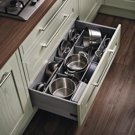 Wide Pan Drawer With Pan Drawer Divider Kit Kitchen Pinterest Drawer Dividers Divider And