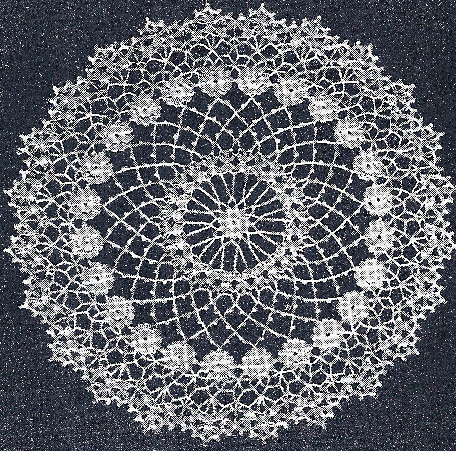 Vintage Crochet PATTERN to make Irish Rose Doily Mat Centerpiece ...