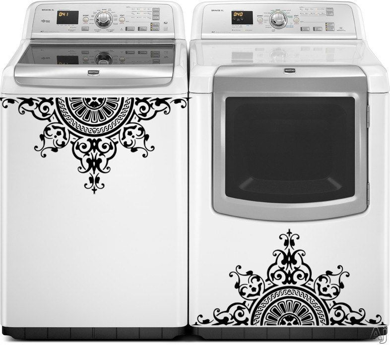 Washer dryer vinyl decals appliance decals greek medallion vinyl decal for washer dryer top loading washer decals laundry decals by thewordnerdstudio on