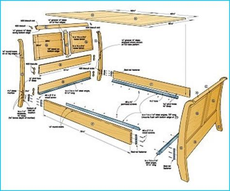How To Put Together Bed Frame For Queen Sleigh Bed Woodworking