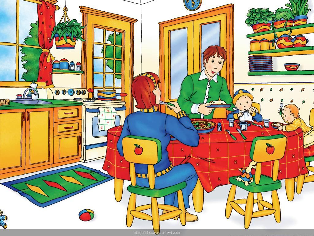 Writing Prompt Dinner Meal Mom Dad Children Caillou