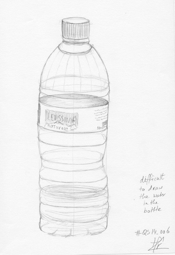how to draw a drink bottle