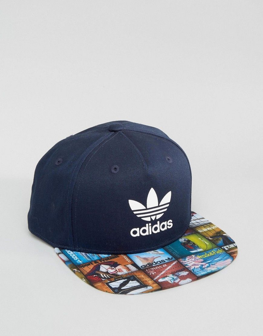 adidas Originals Snapback Cap In Blue AY7856