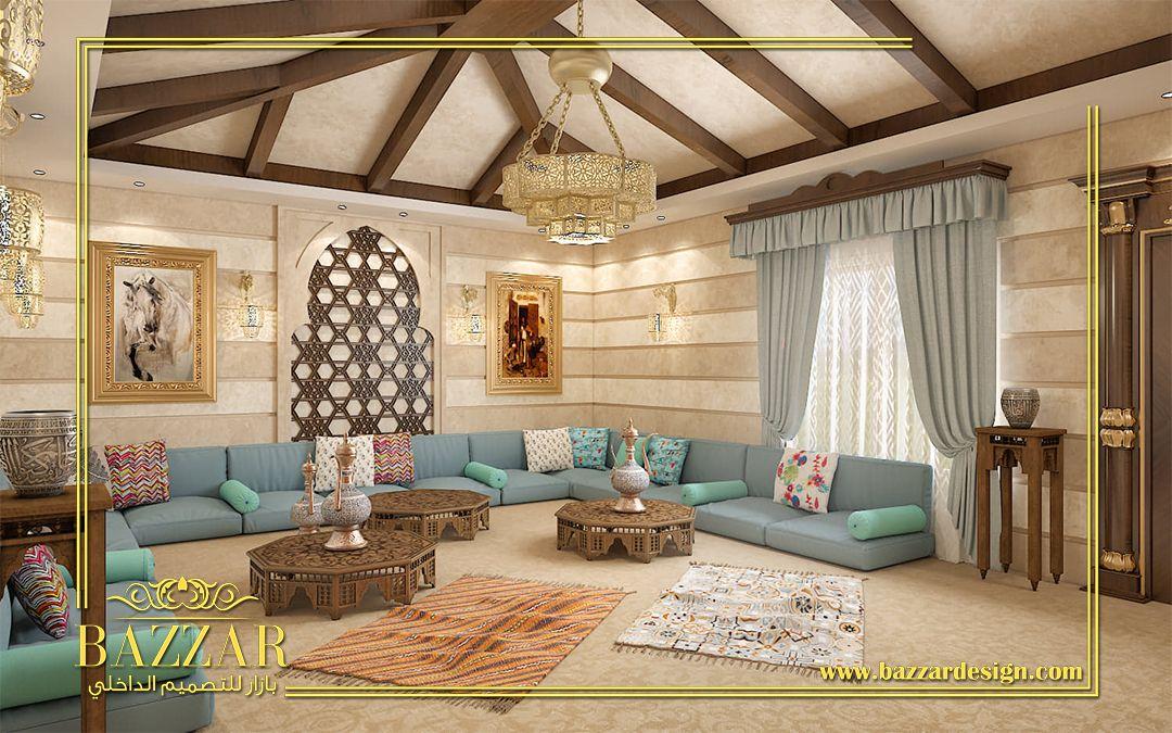 مجلس رجال اسلامي بدرجات اللون البيج والرمادي علي طراز مودرن بسيط و ناعم تصميم داخلي مصمم مجال Living Room Sofa Set Luxury Living Room Indian Living Rooms