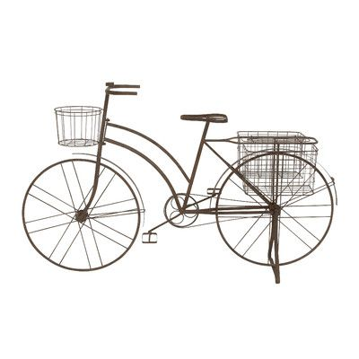 Captivating Showcasing 3 Baskets For Displaying Bright Blooms, This Bicycle Inspired  Planter Brings Eye Catching Appeal To Your Outdoor Decor.