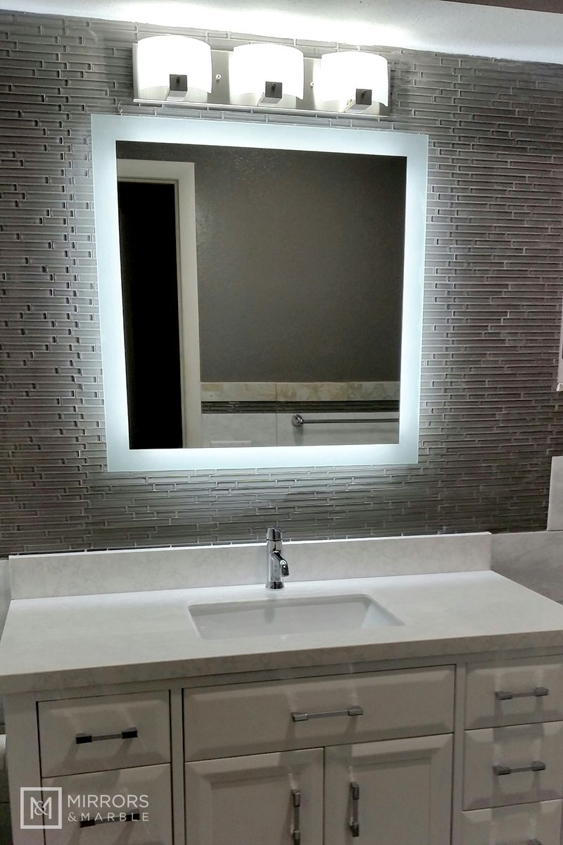 "SideLighted LED Bathroom Vanity Mirror 30"" Wide x 30"