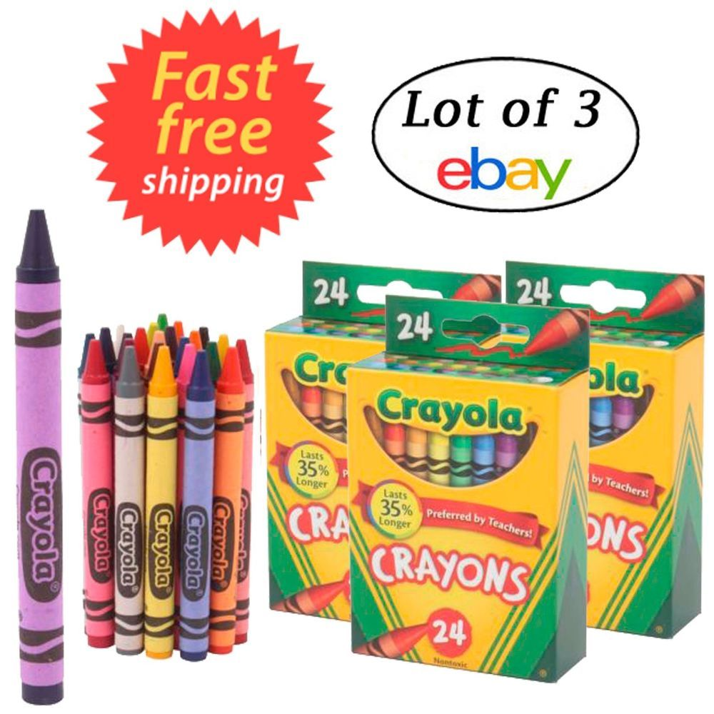 24 Boxes per case Pack Crayola 4 ct Crayons