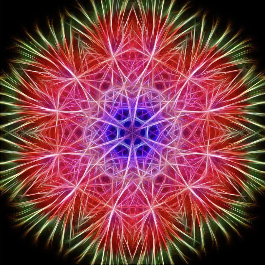 Beautiful fireworks kaleidoscope by robert carlsen