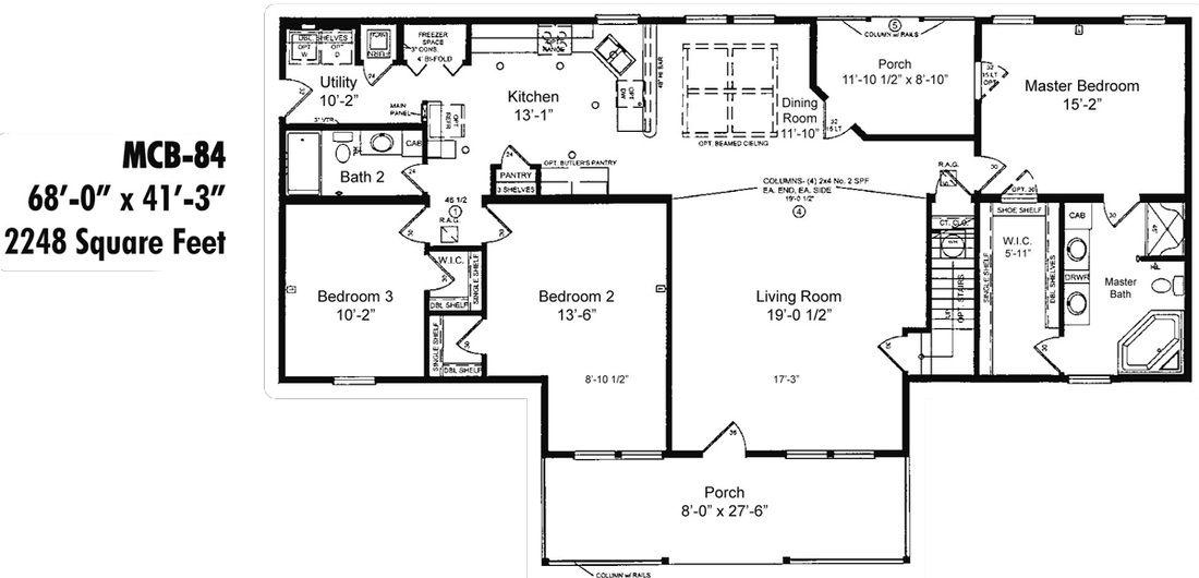 Mcb 84 Moncure Homes Modular Home Floor Plans House Floor Plans Custom Modular Homes