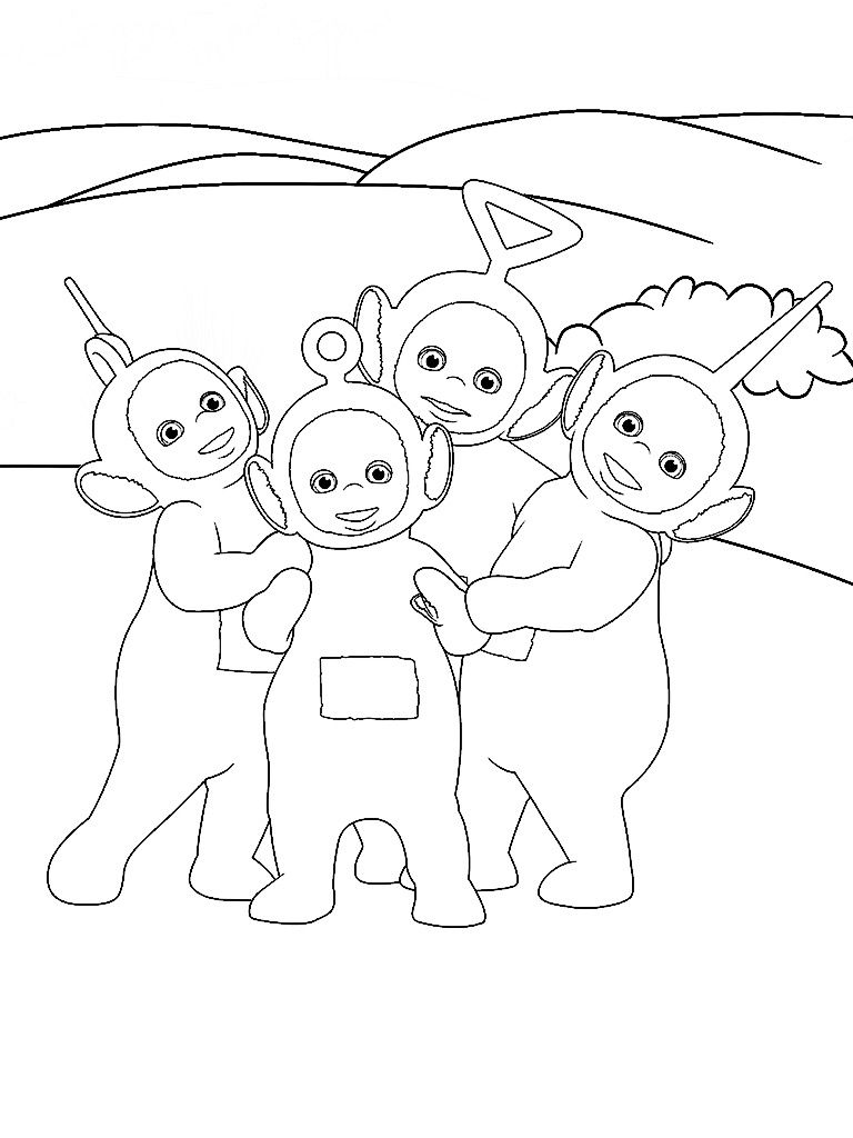Teletubbies Coloring Page from Teletubbies Paint Sparkles App ...