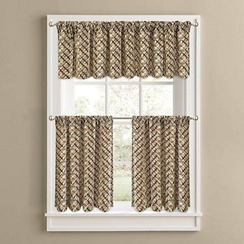 Colordrift Cabin Fever Tier Kitchen Curtains Kohls Curtains