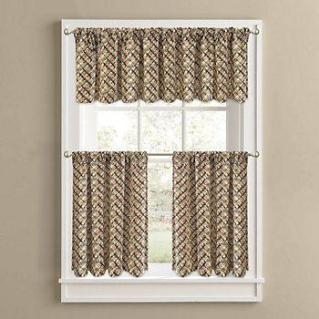 Exceptionnel Colordrift Cabin Fever Tier Kitchen Curtains   Kohls