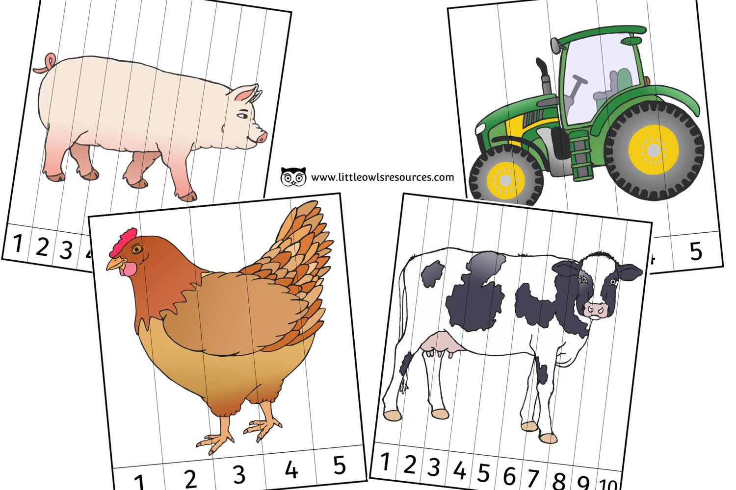 Free Farm Number Slice Activity Early Years Ey Eyfs