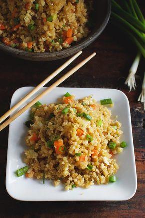 Easy Low-Carb Cauliflower Fried Rice Recipe - Simply So Healthy #cauliflowerfriedrice